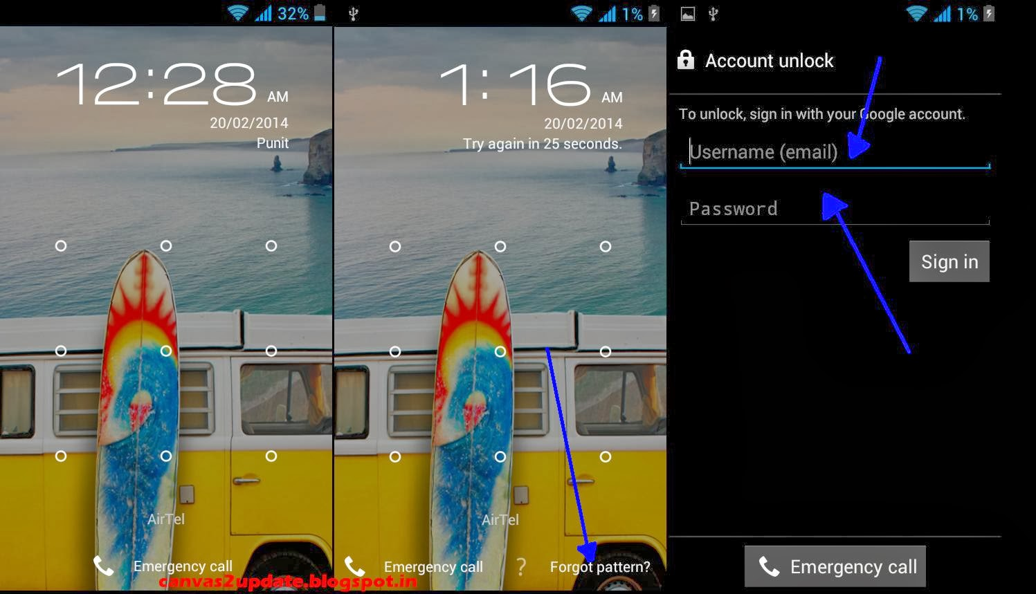Forgot Password Of Pin Or Pattern Lock Solution For Micromax Canvas
