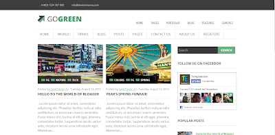 GoGreen Free High Quality Blogger Template