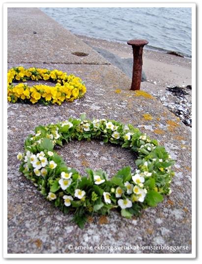 midsommarkrans, midsommarkransar, inspiration midsommarkransar, midsummer wreaths