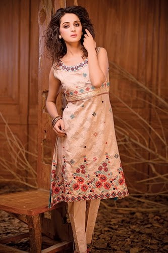 Nukshi Embroidered Dresses 2014