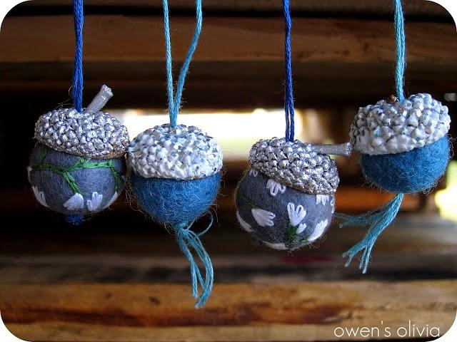 Owen 39 s olivia felt acorn ornaments diy for How to make acorn ornaments