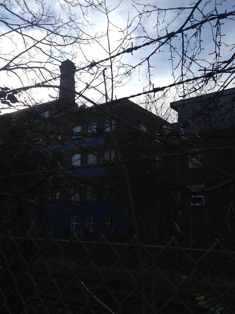 Chimney on a building in Woodstock Grove, London W12