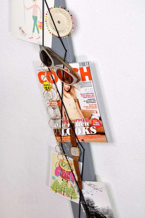 kelly s corner ein schmales memoboard diy les tissus. Black Bedroom Furniture Sets. Home Design Ideas