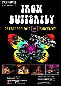 Concierto de Iron Butterfly en Barcelona en febrero