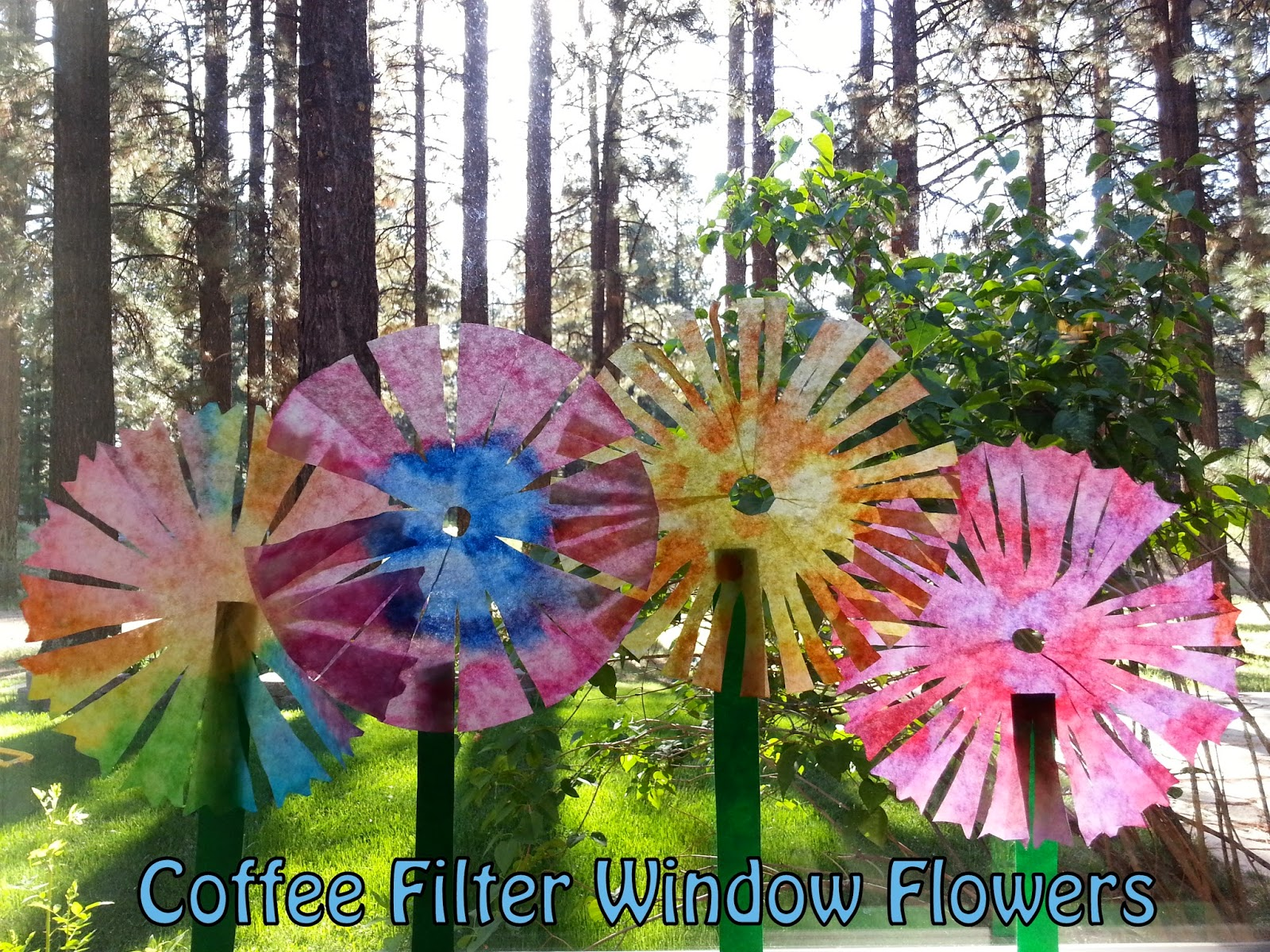 coffee filter flowers preschool choices for children coffee filter window flowers 984