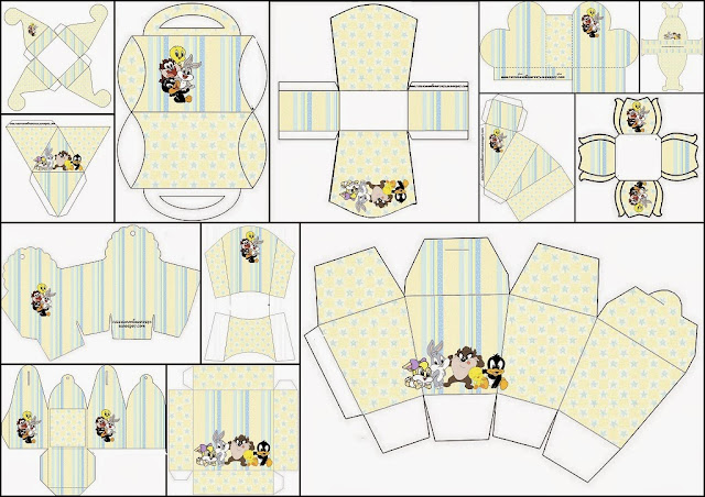 Lonney Tunes Babies: Free Printable Boxes.