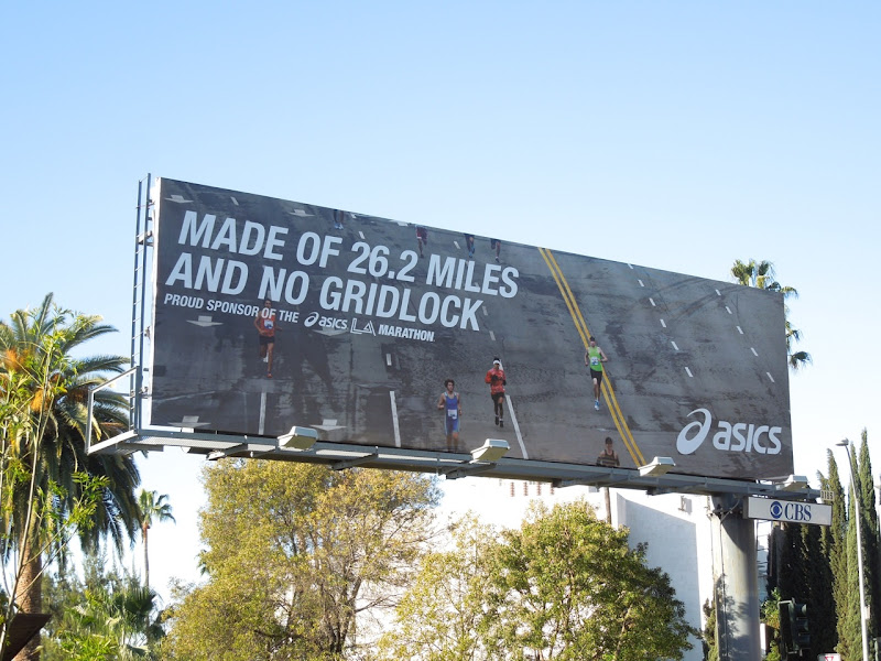Asics Made of 26.2 miles and no gridlock billboard