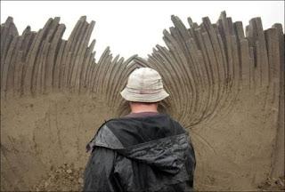 Incrível escultura na areia