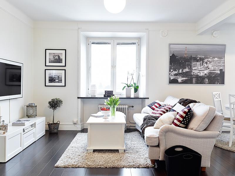 decoracoes de interiores de apartamentos:White Apartment Living Room