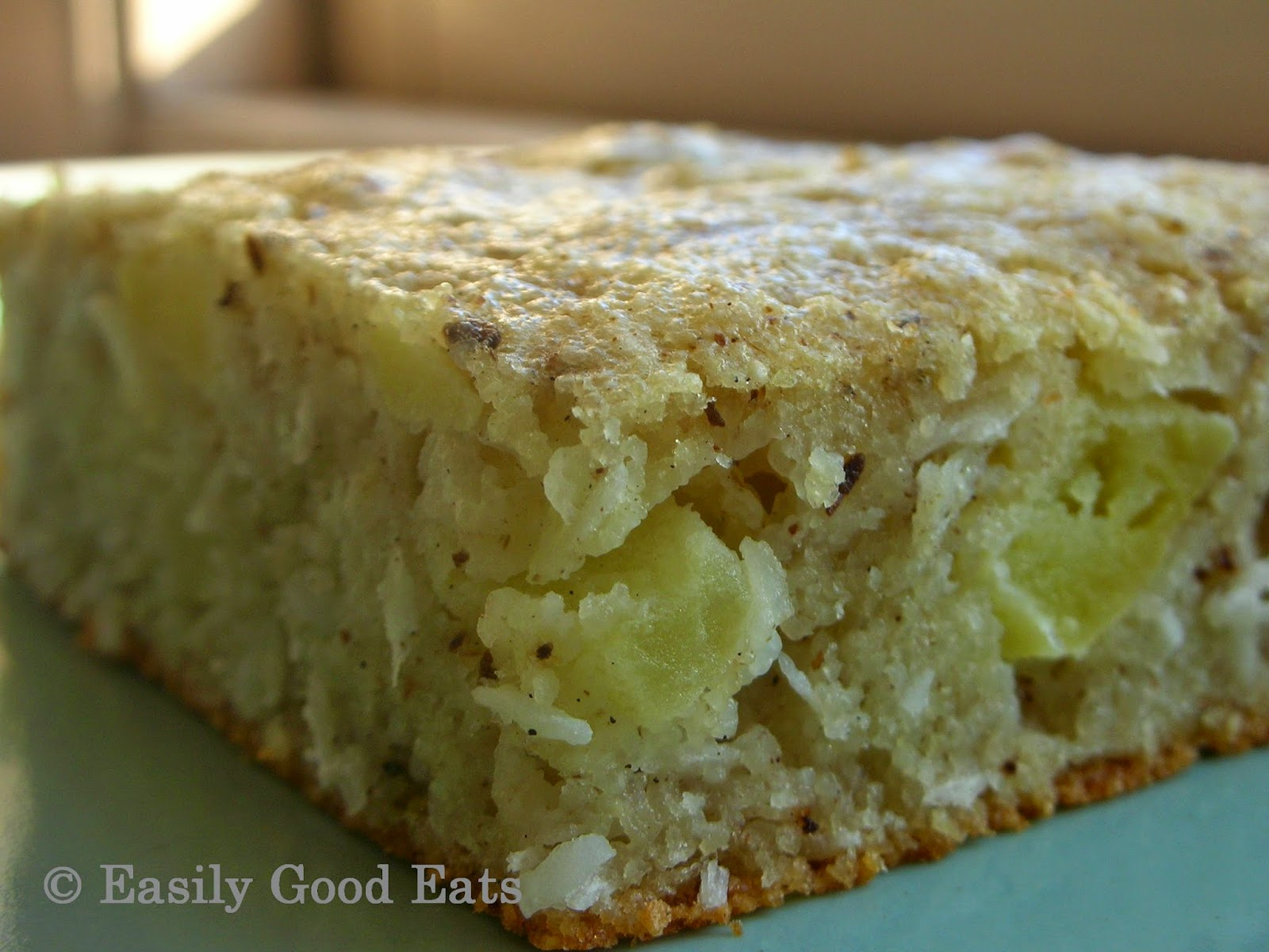 Easily Good Eats: Semolina Coconut Apple Cake Recipe