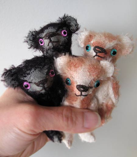 miniature mohair stick bears