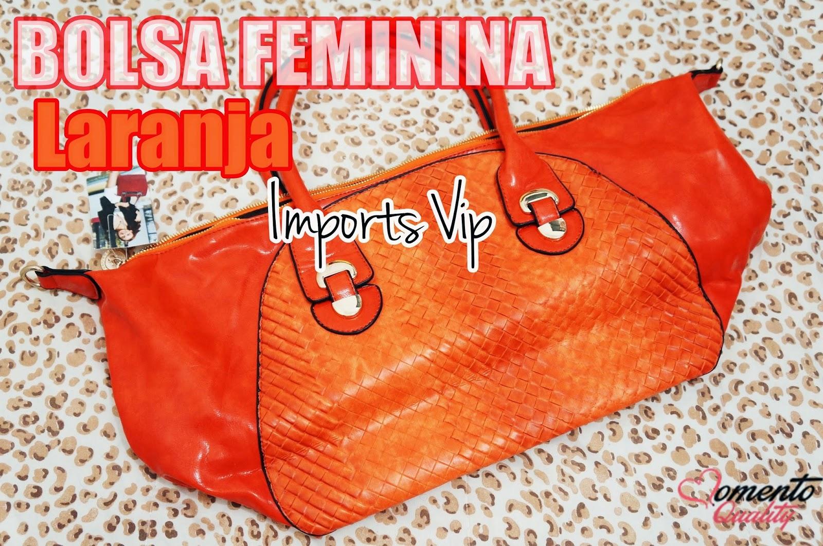 Bolsa Feminina Laranja - Imports Vip Atacado