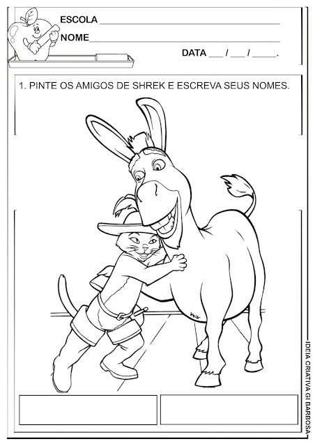 Atividade Escrita Espontânea Filme Shrek 2