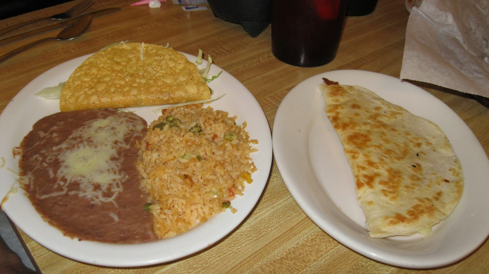 chicken and rice quesadillas