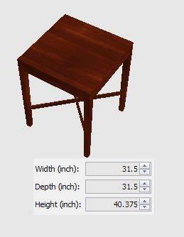 meja cafe dari kayu