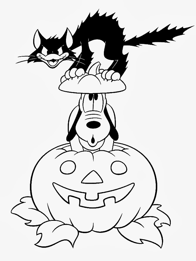 Halloween Pictures To Color And Print