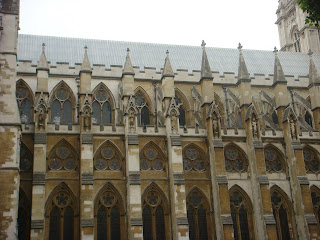 The beautiful architecture of Westminster Abbey, London, England