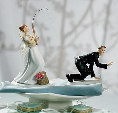 Gnvision - Bolos de casamento engraçados e criativos - Noiva pescando noivo
