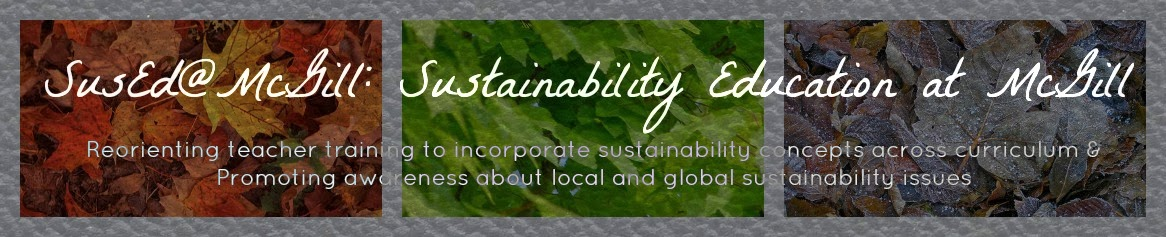 SusEd@McGill: Sustainability Education at McGill