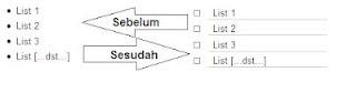 Mengganti bullet list postingan blog