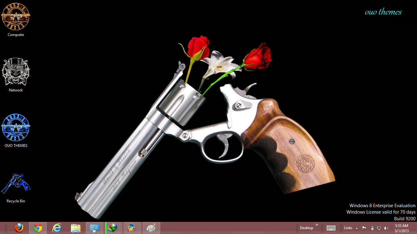 roses with guns