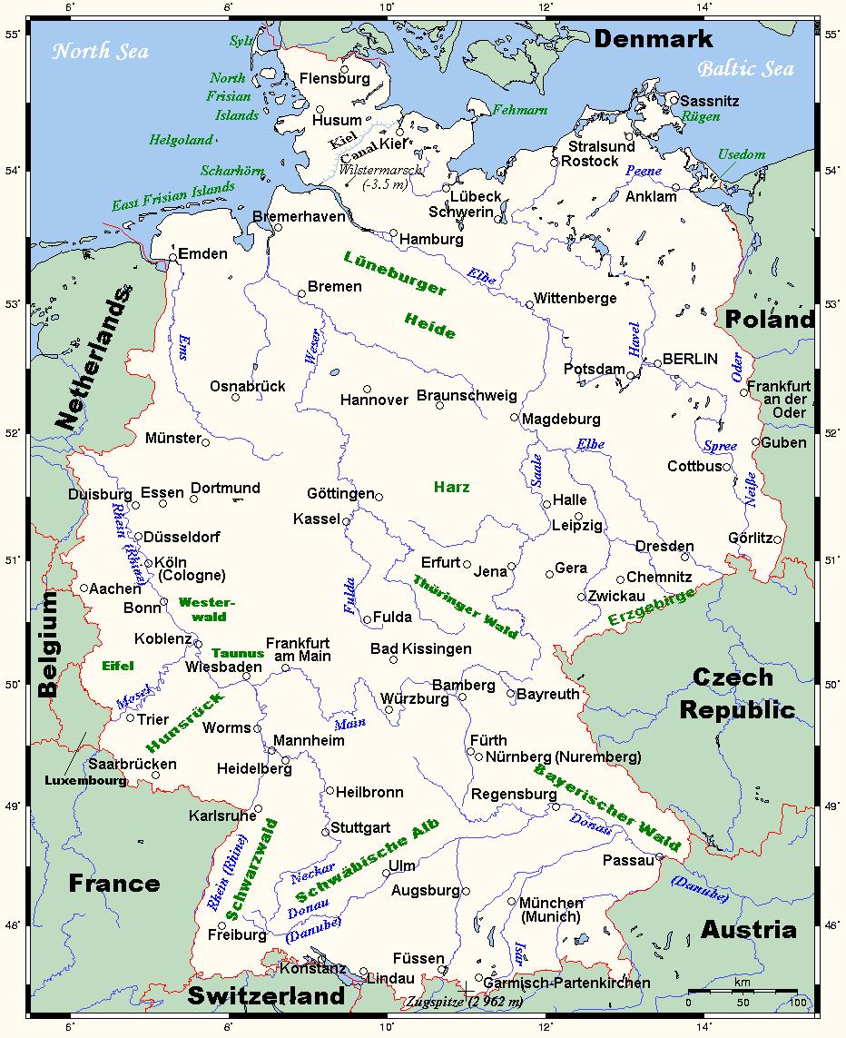 landkarte deutschland politische landkarte deutschland regionen politische. Black Bedroom Furniture Sets. Home Design Ideas