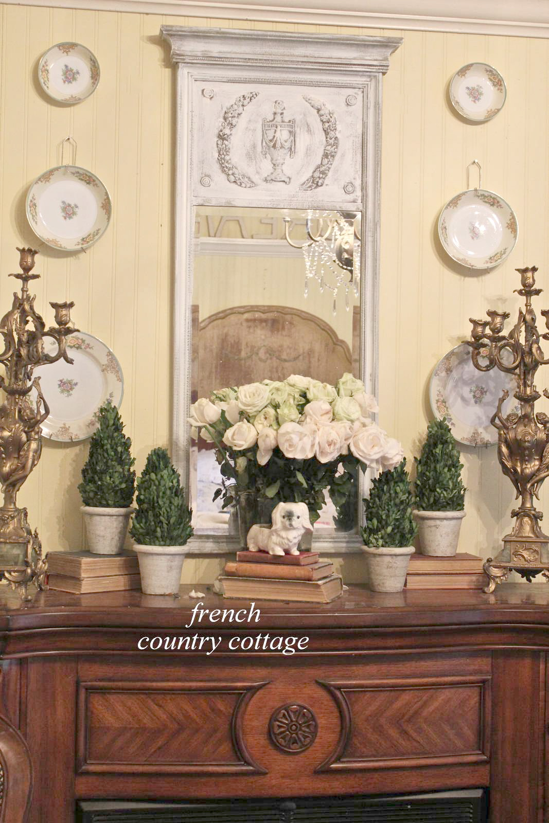 A fresh bedroom mantel french country cottage for French country cottages