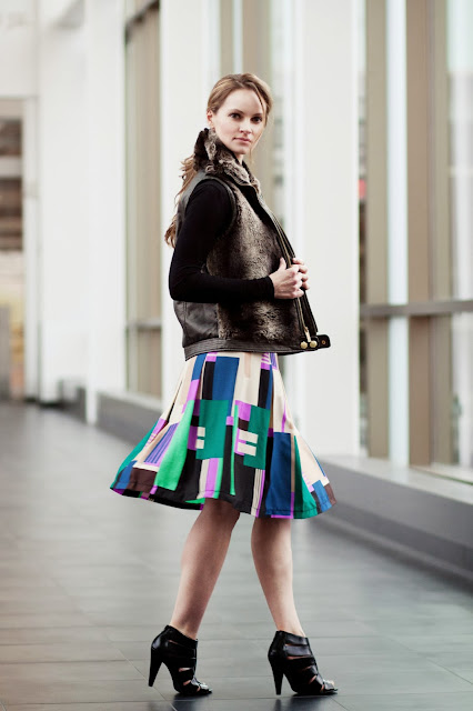 modest stylish knee length skirt