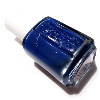 Essie Mesmerise Blue & Silver Pearls Nail Art Tutorial Chanel Spring Summer 2013 Ready To Wear Show Inspired