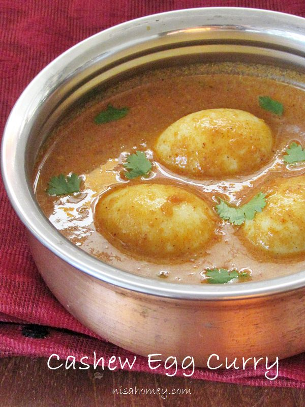 Cashew egg curry, how to make easy egg curry with cashew paste with ...