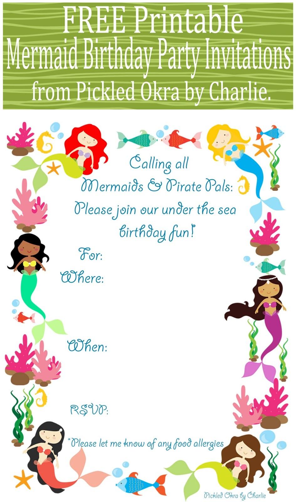 Mermaid Pennant Banner, Free Printable