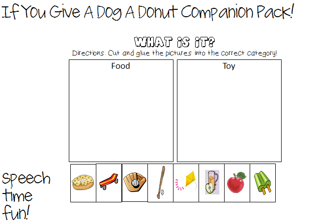 If You Give A Dog A Donut Storybook Companion Pack – If You Give a Mouse a Cookie Worksheets