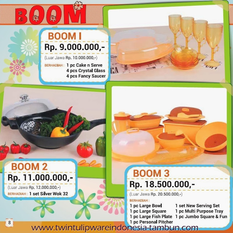 BOOM Twin Tulipware Tupperware Maret - April 2014