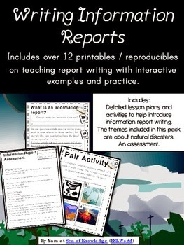http://www.teacherspayteachers.com/Product/Writing-Information-Reports-Writing-Unit-Printables-Grades-4-6-ESL-1221688