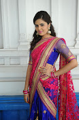 Sri Mukhi Gorgeous Half saree Photos-thumbnail-16