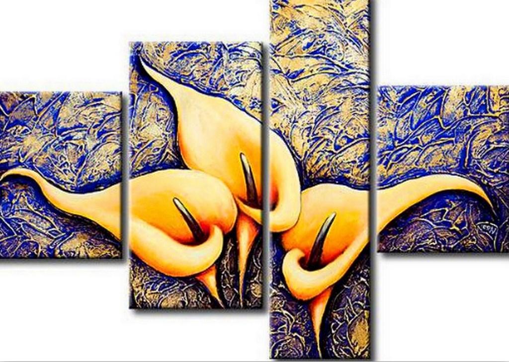 Cuadros modernos pinturas y dibujos cuadros con flores - Cuadros modernos con mucho color ...
