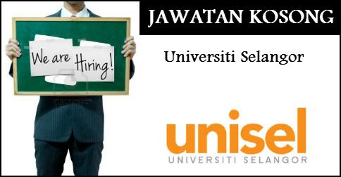 Jawatan Kerja Kosong Universiti Selangor (UNISEL) logo www.ohjob.info september 2014