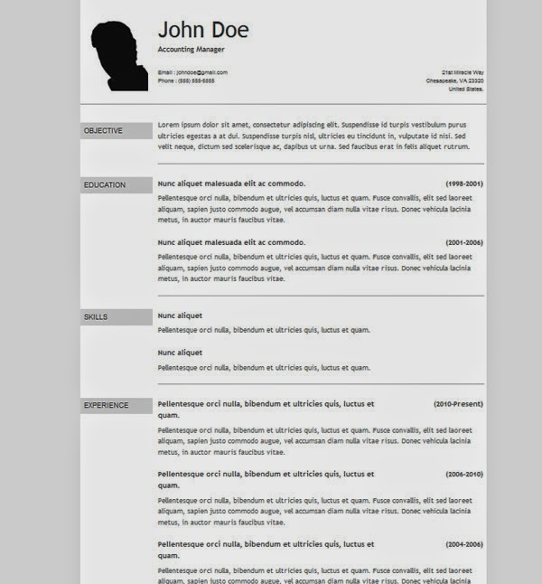 50 free cv resumetemplate download
