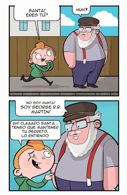 George R.R. Martin - viñeta de humor