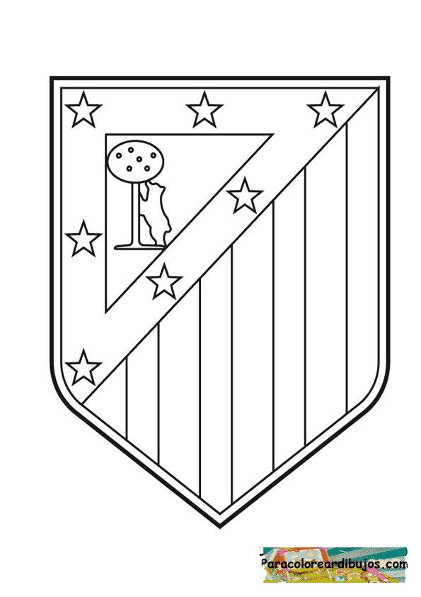 escudo atletico d emadrid para colorear