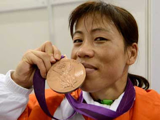 Olympic Medal Winner Indian Woman Boxer Mary Kom