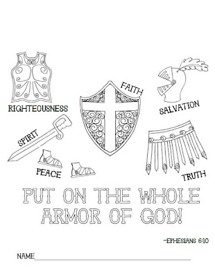 Irresistible image for armor of god printable coloring page