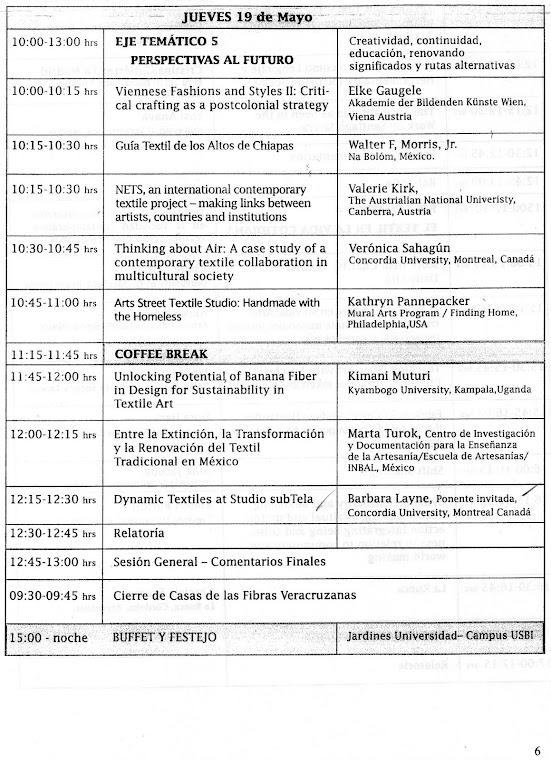 CONFERÊNCIA INTERNACIONAL CONSIDERAÇÕES ENTRE TÊXTEIS E SOCIEDADE: RECAPITULAÇÃO.