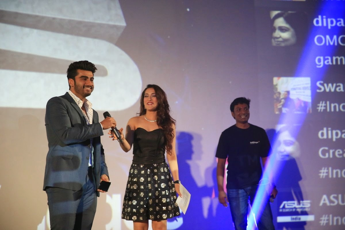 Rashmi Nigam and Arjun Kapoor at Asus Indiblogger meet