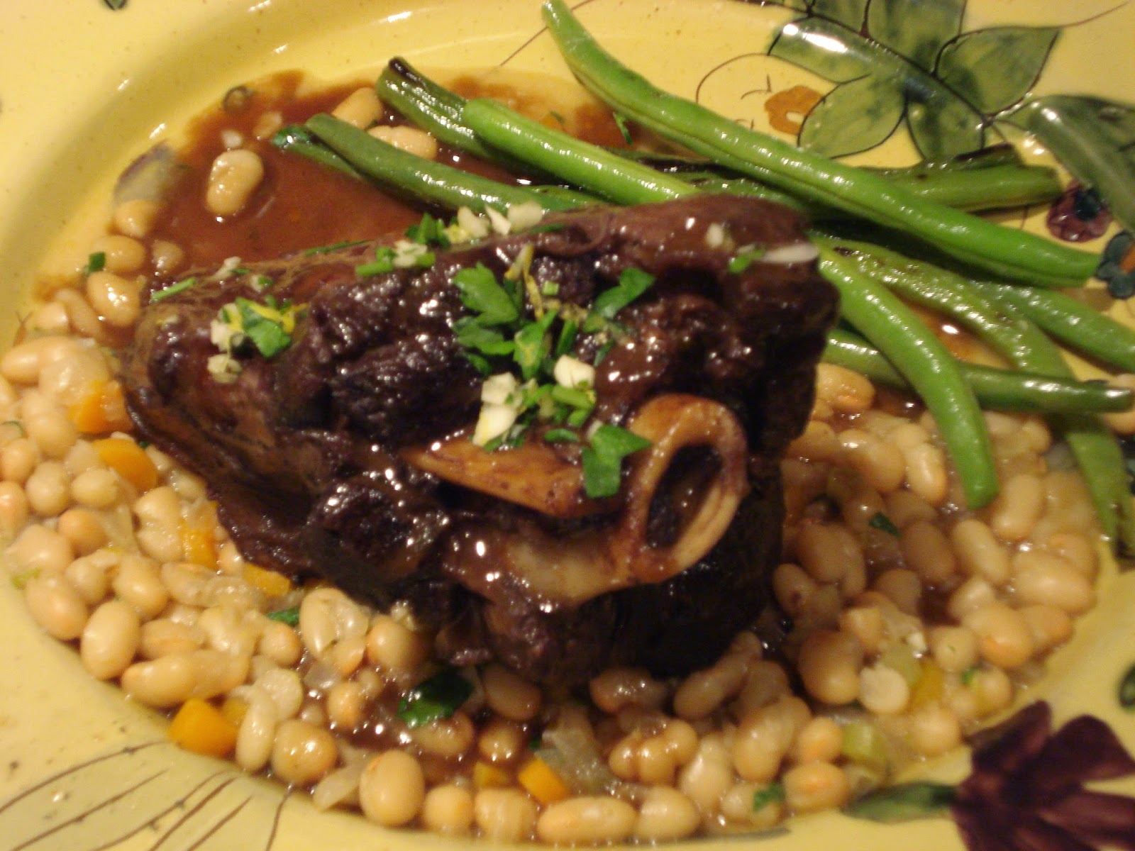 braised lamb shanks with haricot beans recipe