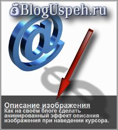 Анимированный эффект описания изображения на Blogspot