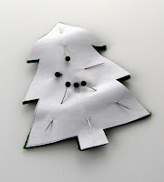 Christmas tree cut out of felt