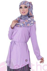 Zenitha Blus Zn115 - Ungu (Toko Jilbab dan Busana Muslimah Terbaru)