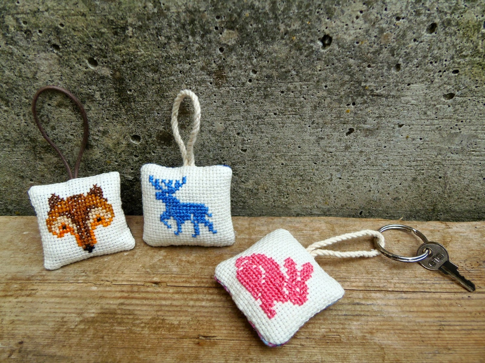 embroidered keychains with animals