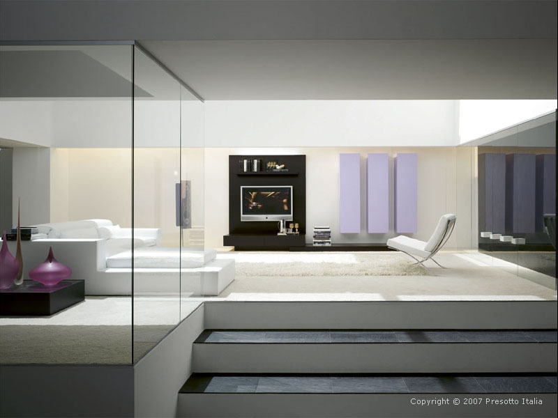 Modern bedroom designs modern bedrooms for Modern living room decoration pictures